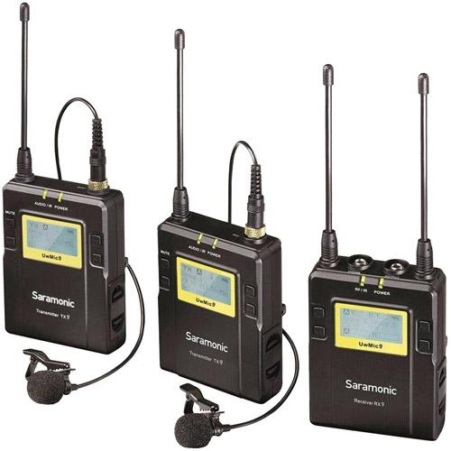UwMic9 DTLK - Dual TX LAV Kit PROMO with Case (2 x TX9 + 1 x RX9) UHF Wireless Mic System