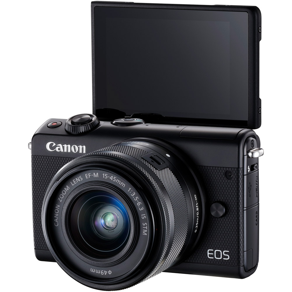 Canon Eos M100 Mirrorless Camera With 15 45 Kit Black 2209c011 45mm 22mm Kamera White Cameras Vistek Canada Product Detail