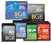 acumem memory cards